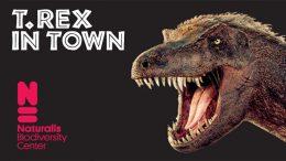 campagnebeeld van t. rex in town