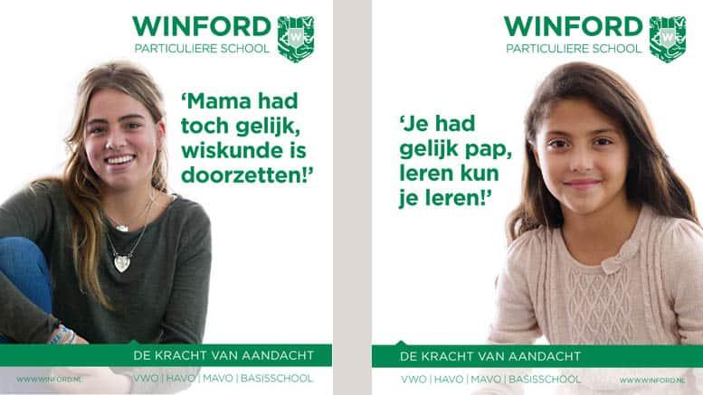 nieuwe wervingscampagne van winford particulier onderwijs